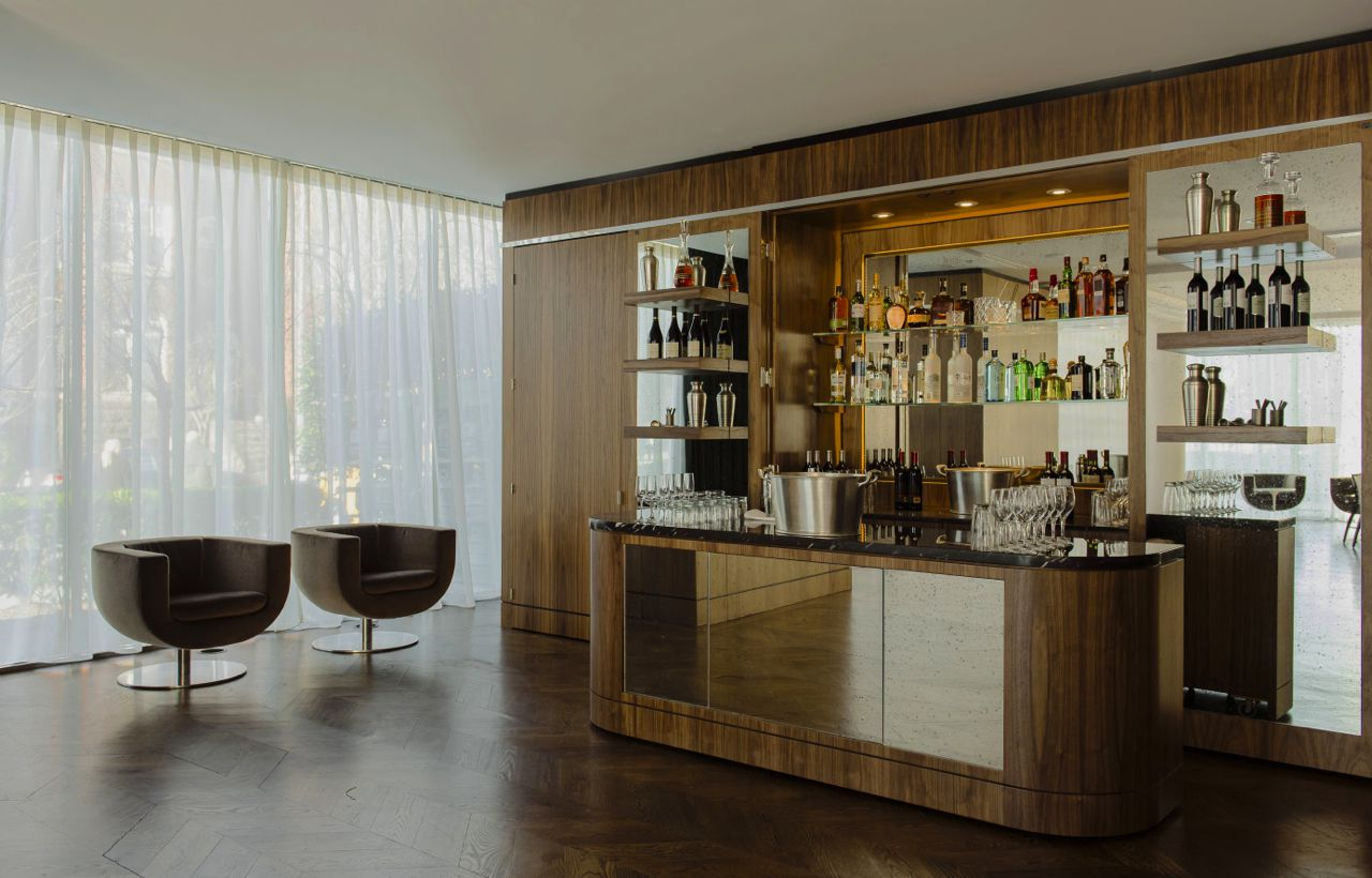 Level Nine, The Dupont Circe Hotel's club floor, has its own cocktail bar with a very happy hour.