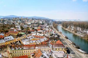 Looking down on Melk, Austria