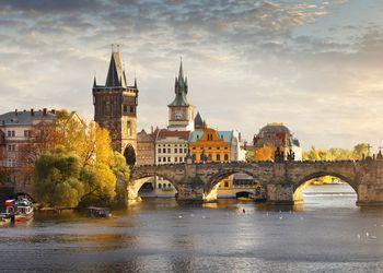 Vltava river and Charles bridge in Prague