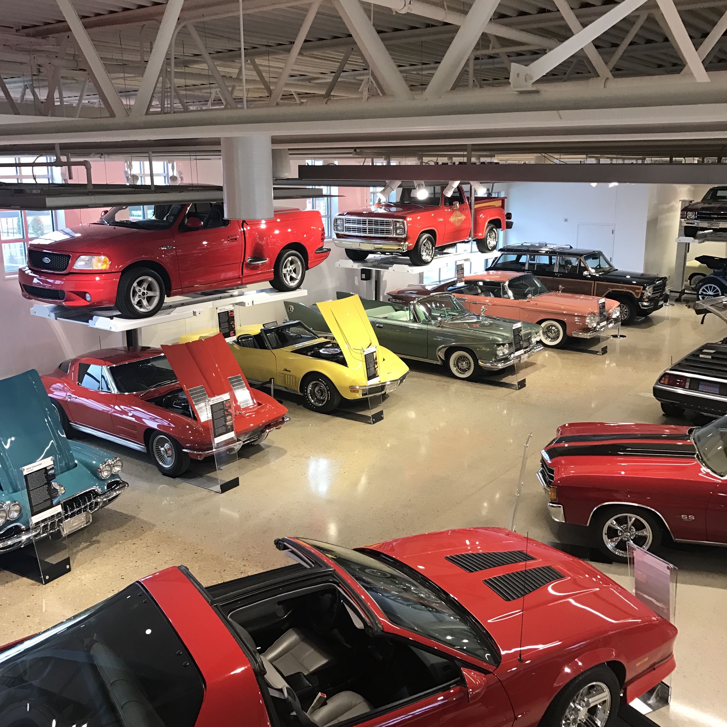 Cars on the floor at the Automobile Gallery