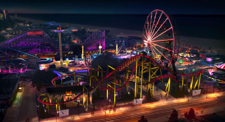 Phoenix Roller Coaster at Deno's Wonder Wheel Park