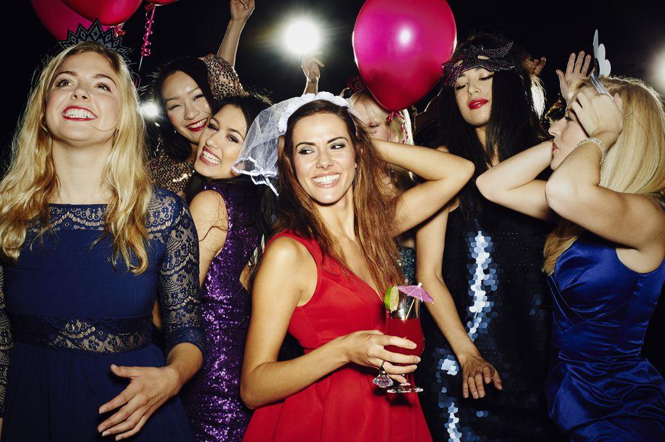 bachelorette party having fun