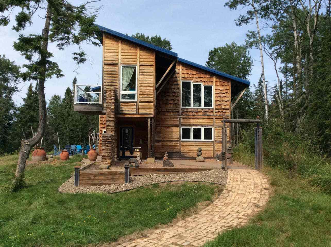 Modern Cabin on Lake Superior