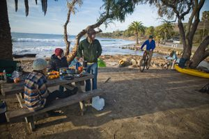 Camping at El Capitan State Beach