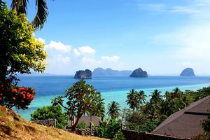 Blue water and clear weather at Koh Lanta, Thailand