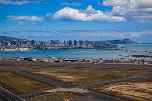 Aerial view of Honolulu International Airport