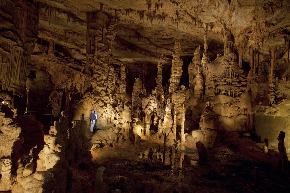 Interior view of Cathedral Caverns, Alabama