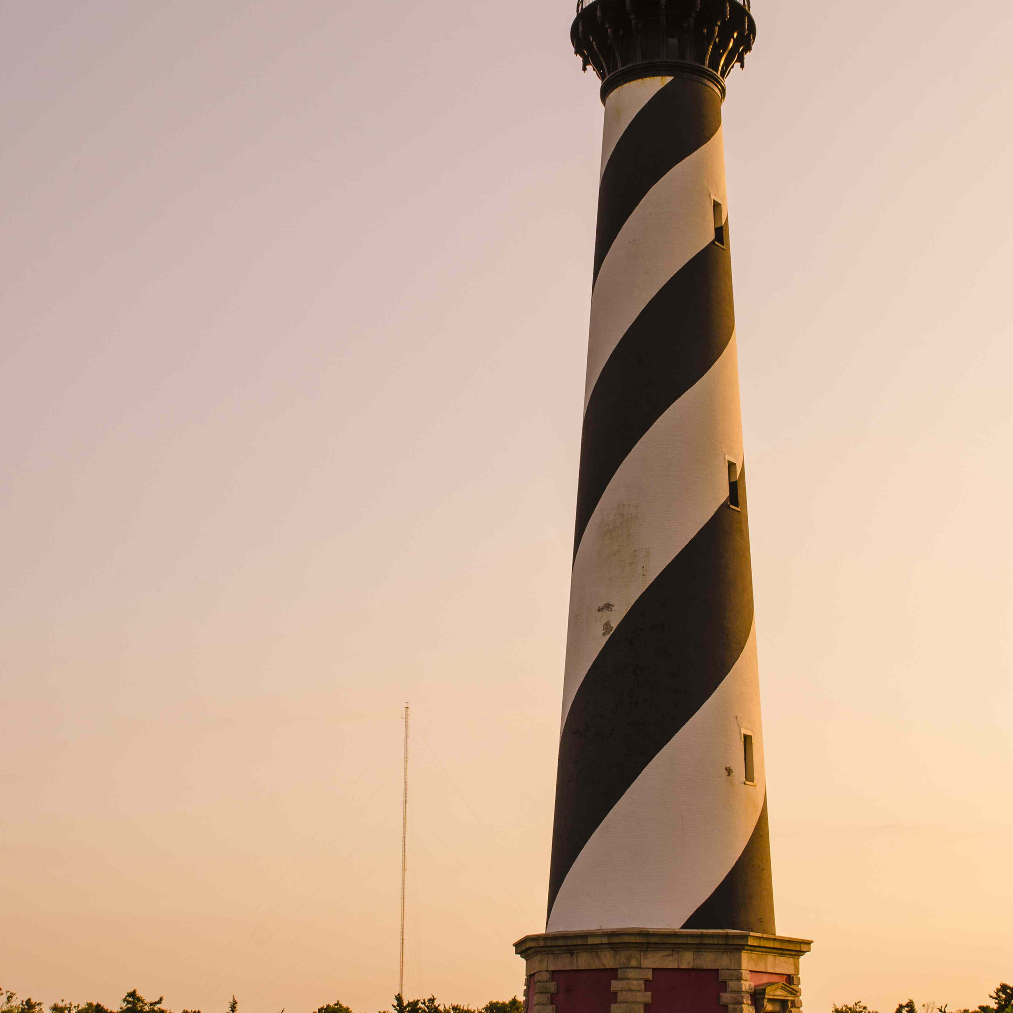 Cape Hatteras Light Station at sunset, Hatteras Island, Outer Banks, North Carolina, USA
