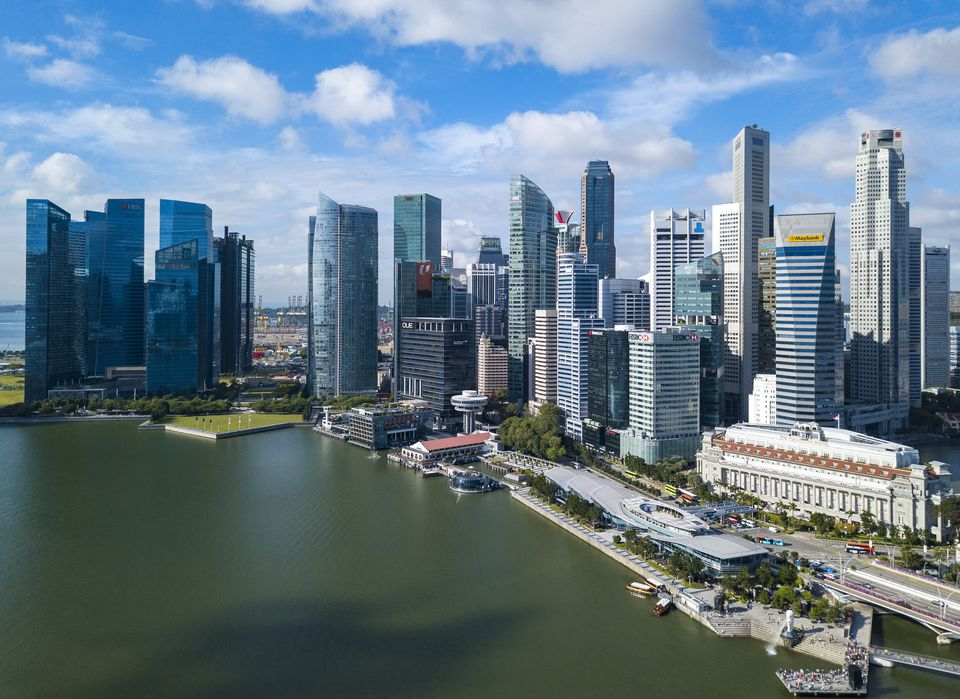Singapore skyline and waterfront