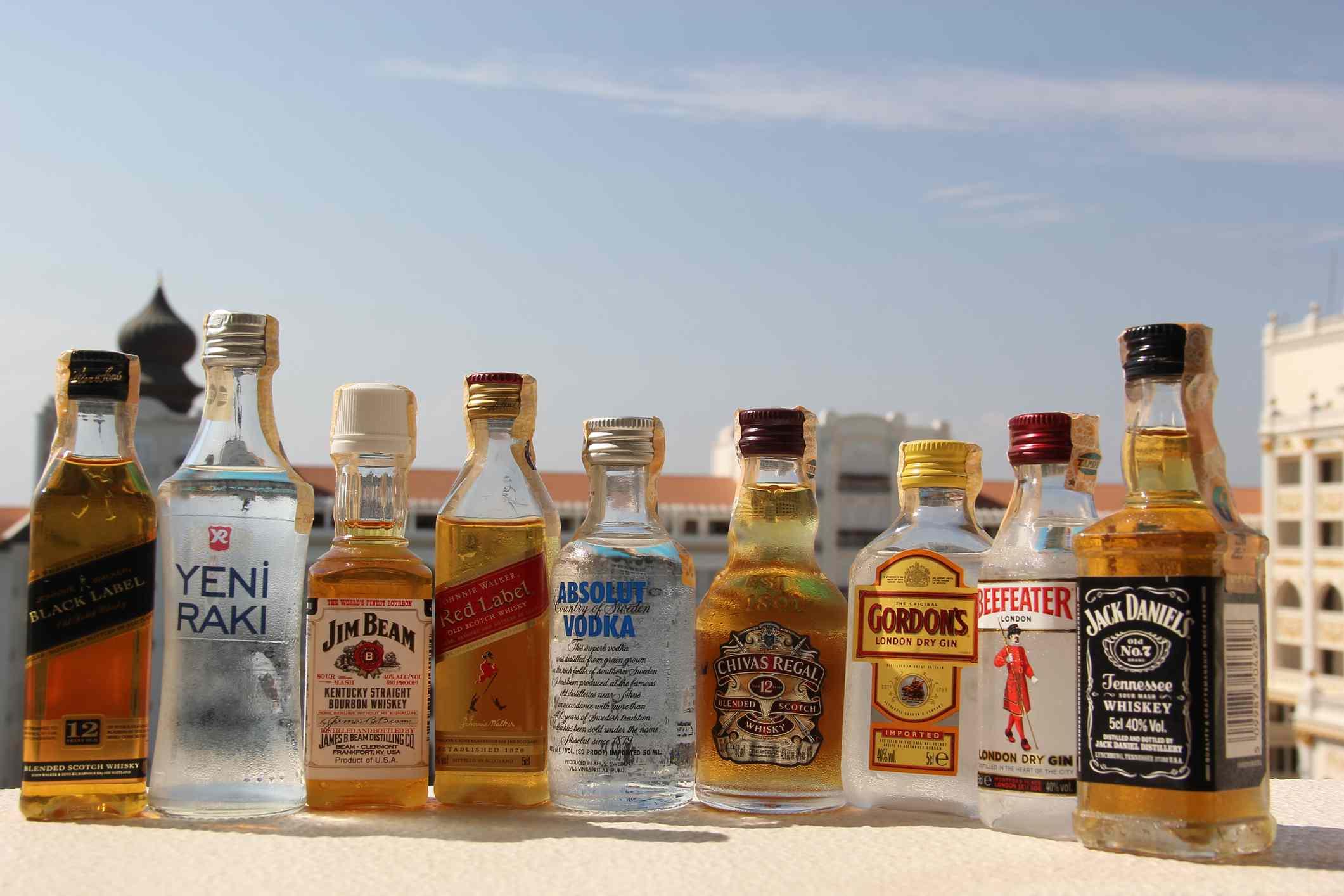 Bebidas de mini bar