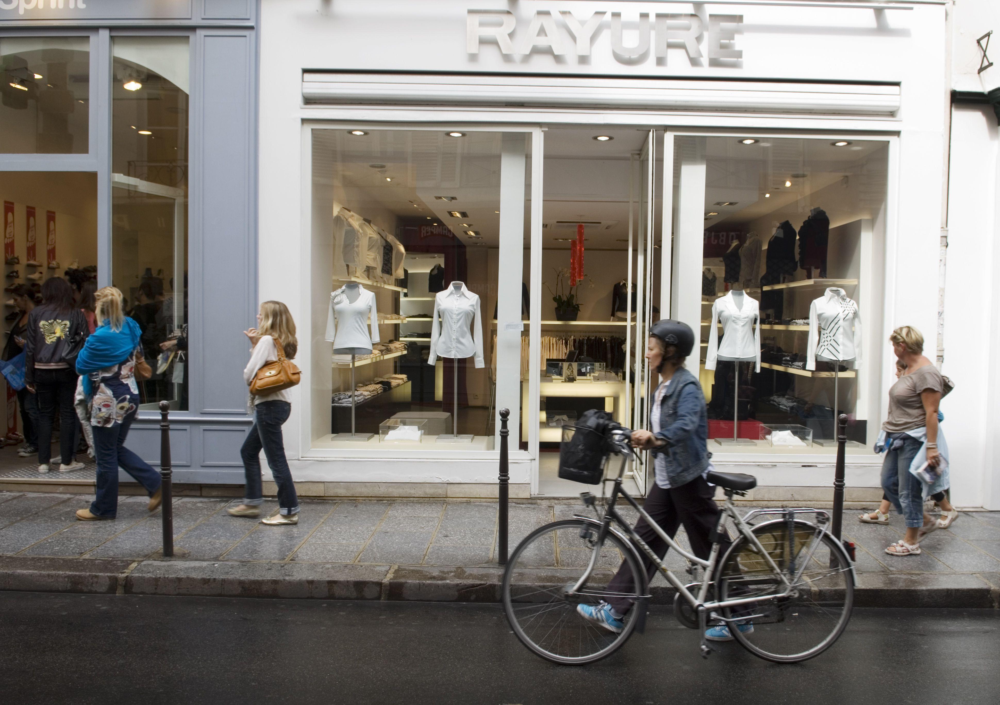 A shop on Rue des Francs-Bourgeois in Paris.