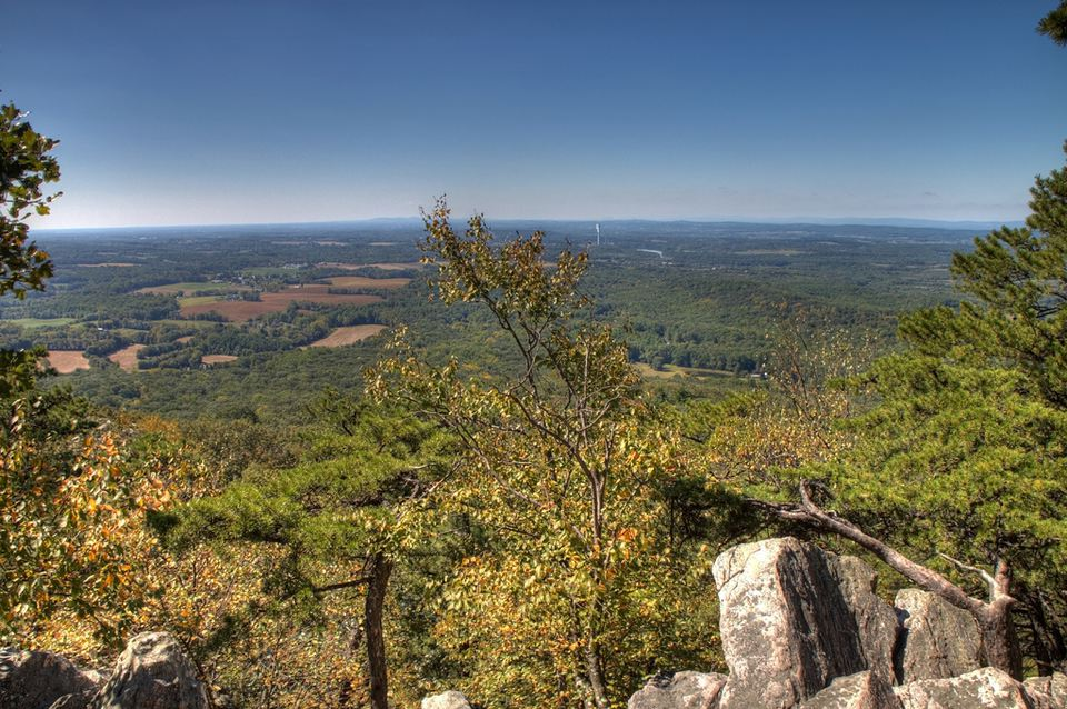 View from Sugarloaf mountain maryland