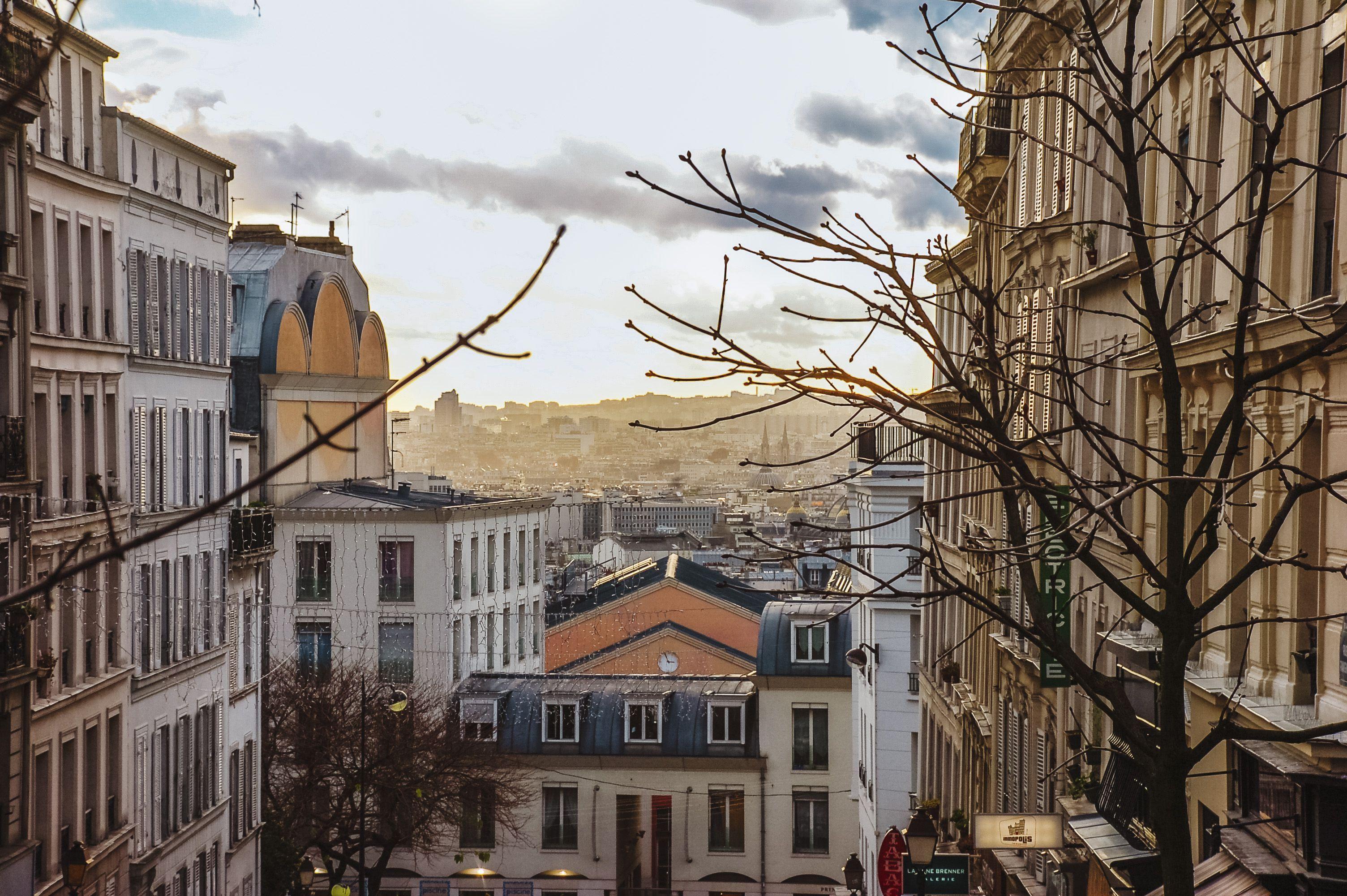 Buildings in Montmarte