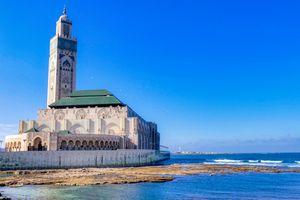 View of Hassan II Mosque in Casablanca