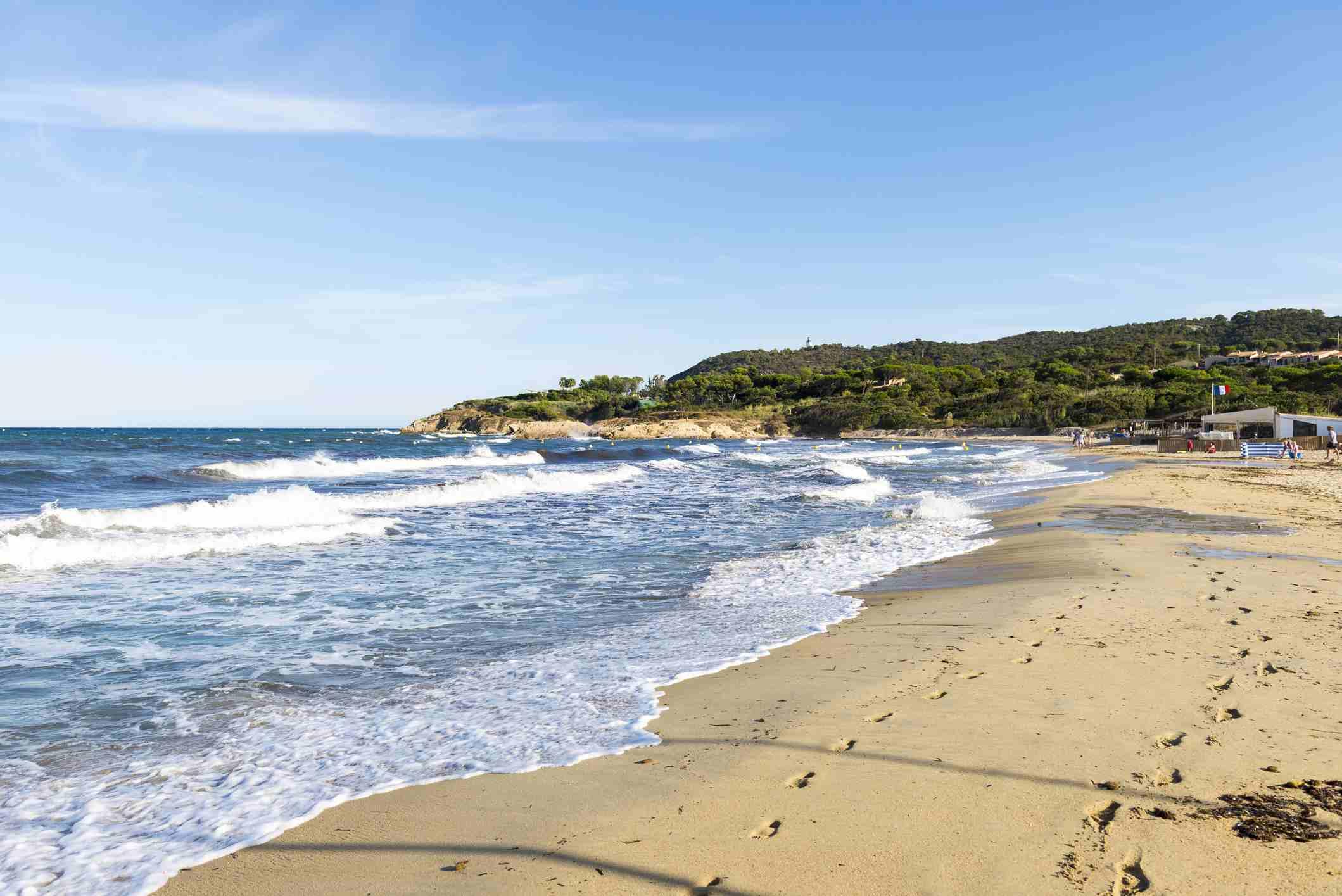 Beach in St. Tropez, France