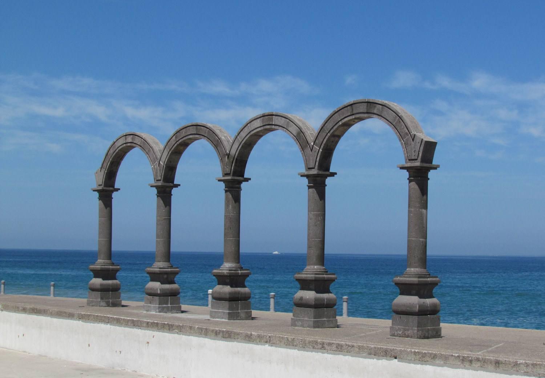 The arches on Puerto Vallarta's Malecón