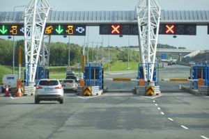 Toll plaza on the M7 in the Republic of Ireland