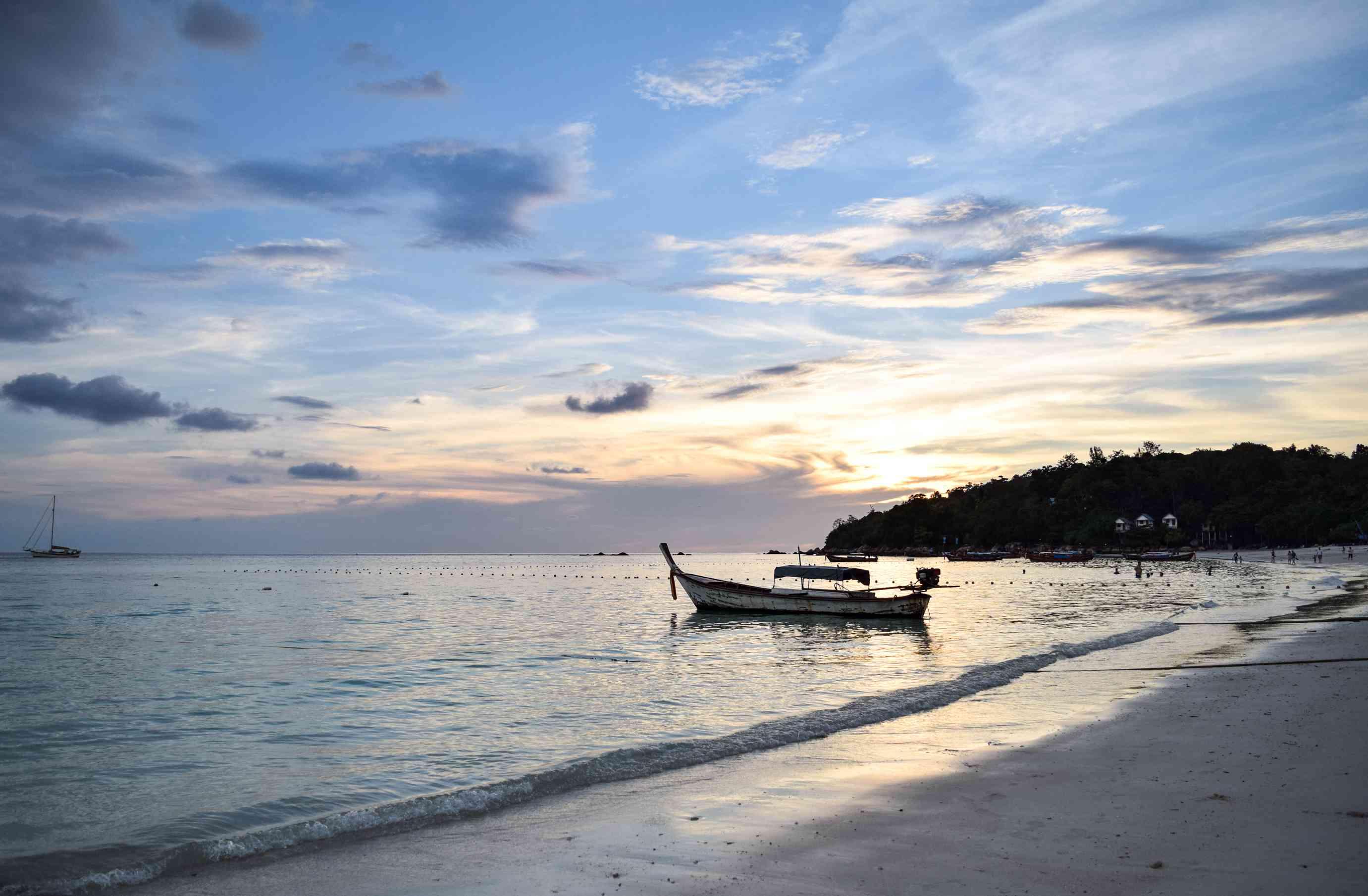A boat on the coast of Koh Lipe
