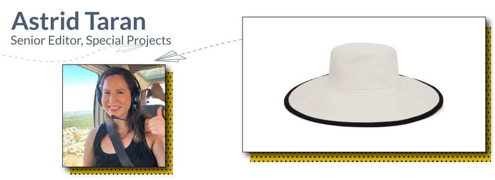 Astrid's pick for what to bring to the beach: Beach hat
