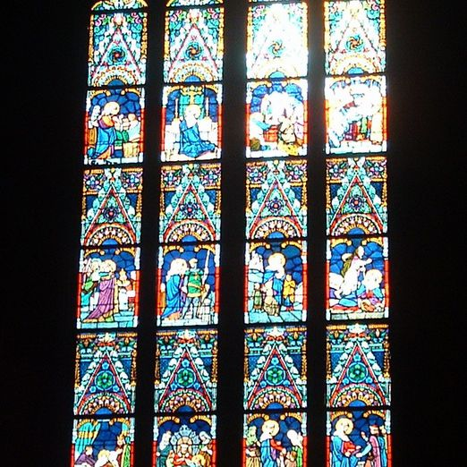 Stained Glass Window in Matthias Church, Budapest
