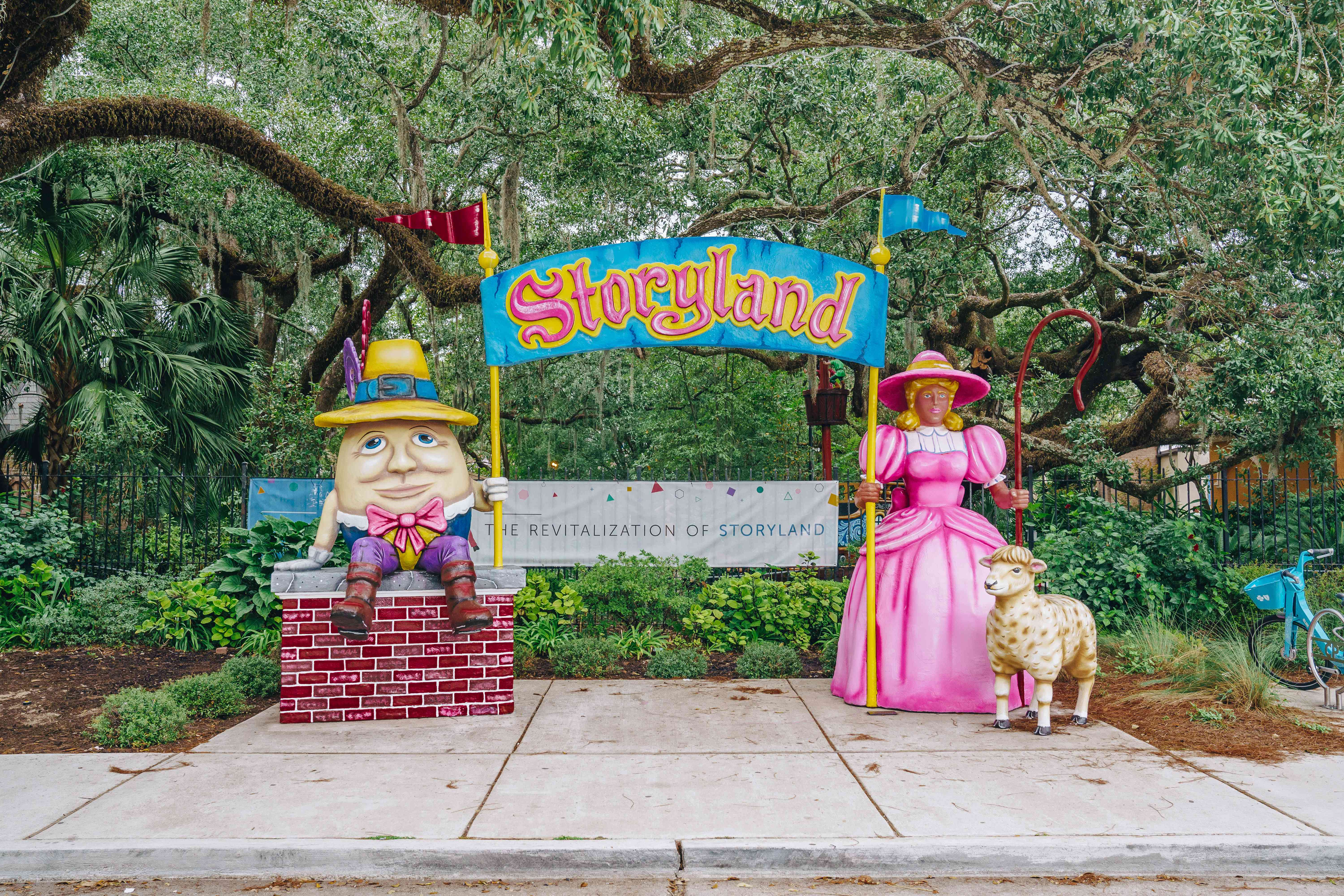 The entrance to Storyland