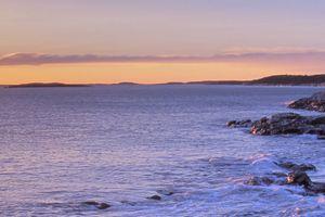 portland head light at sunset