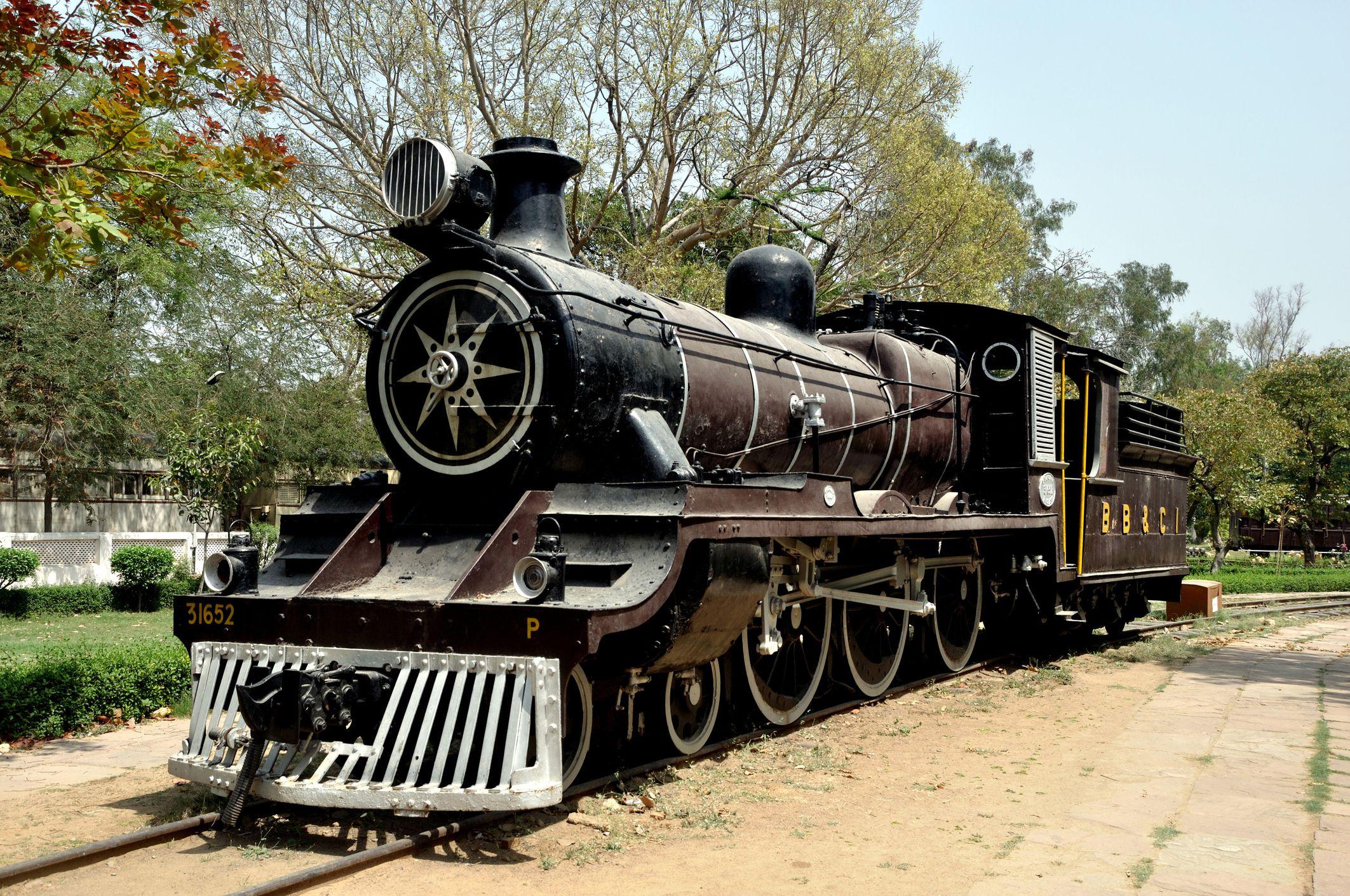 Train at National Rail Museum, Delhi.