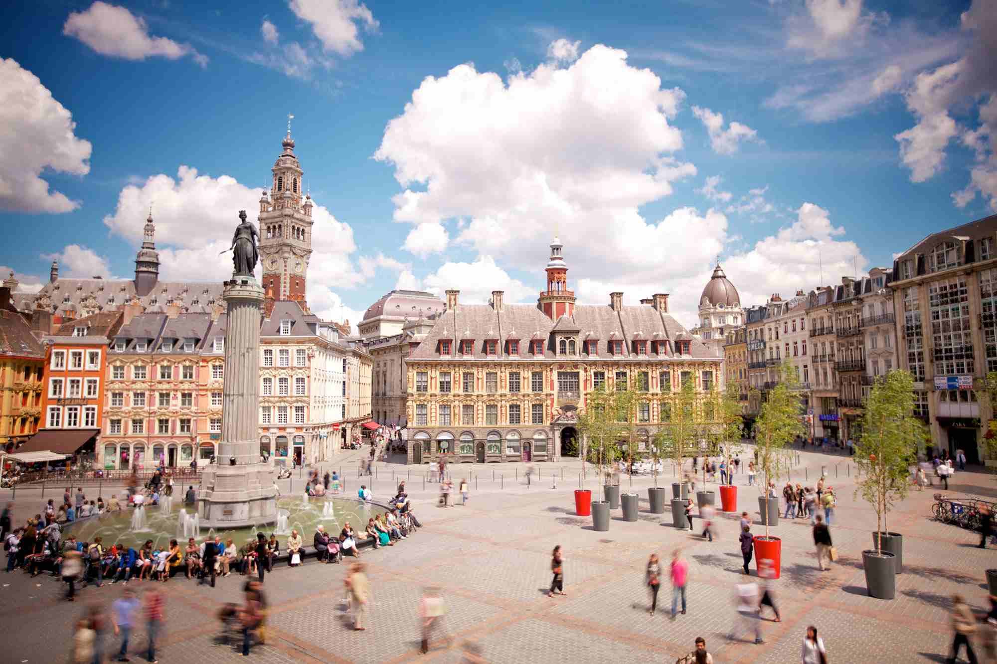The main square in Lille, north France