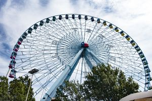 The iconic and massive Texas Star, at Fair Park