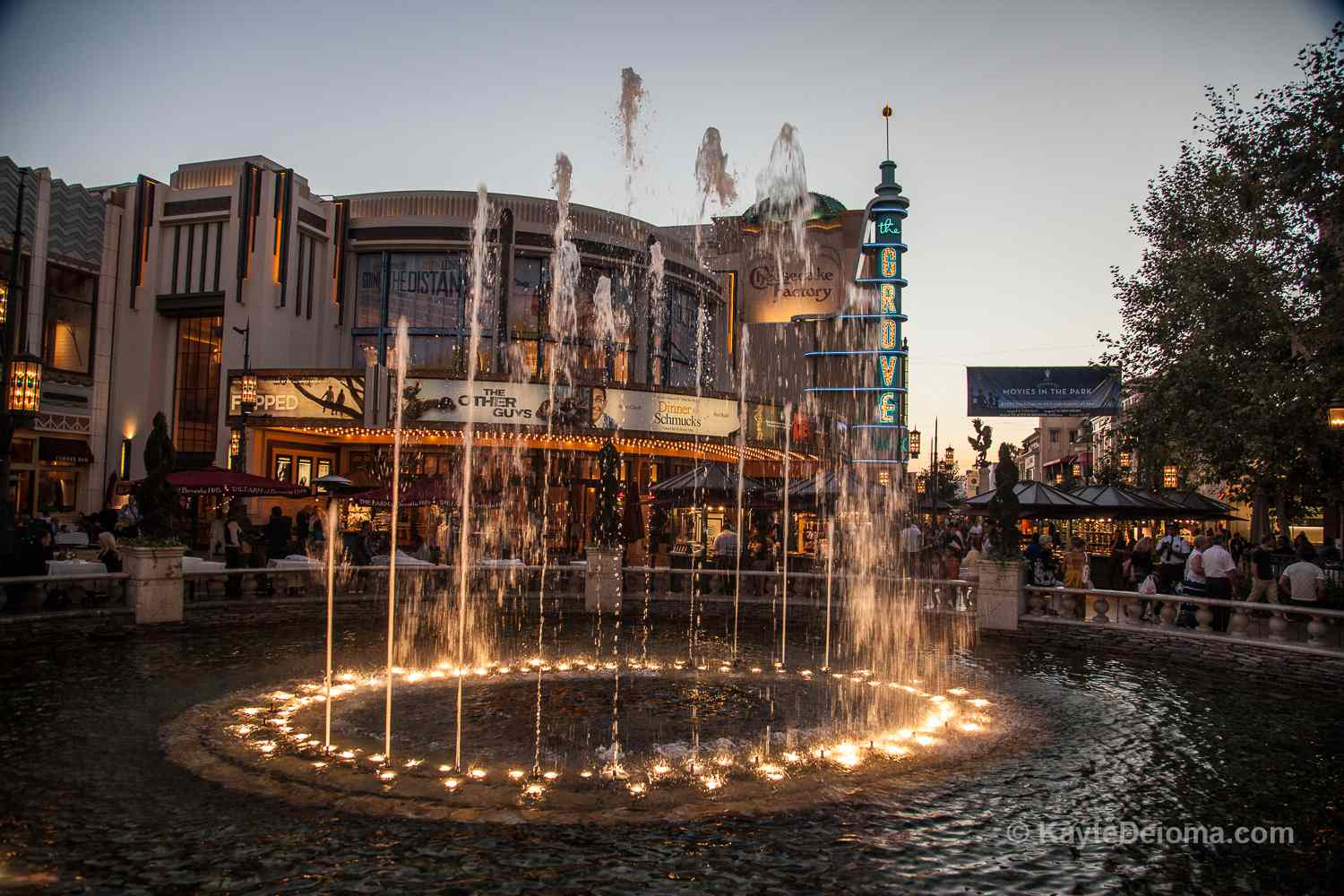 The Dancing Fountain at The Grove in Los Angeles