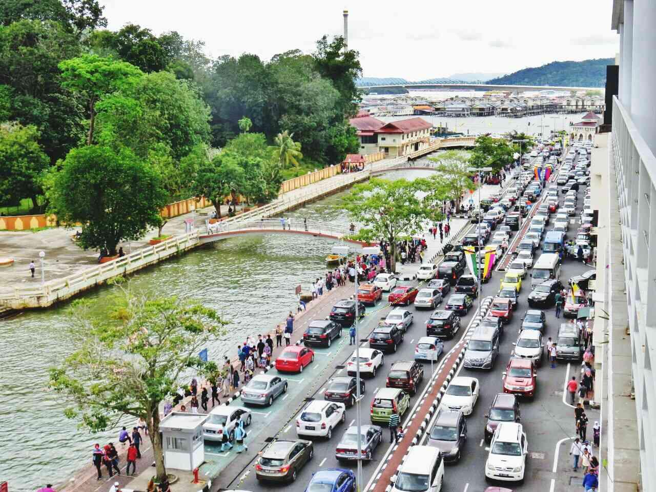 Traffic in Bandar Seri Begawan, Borneo