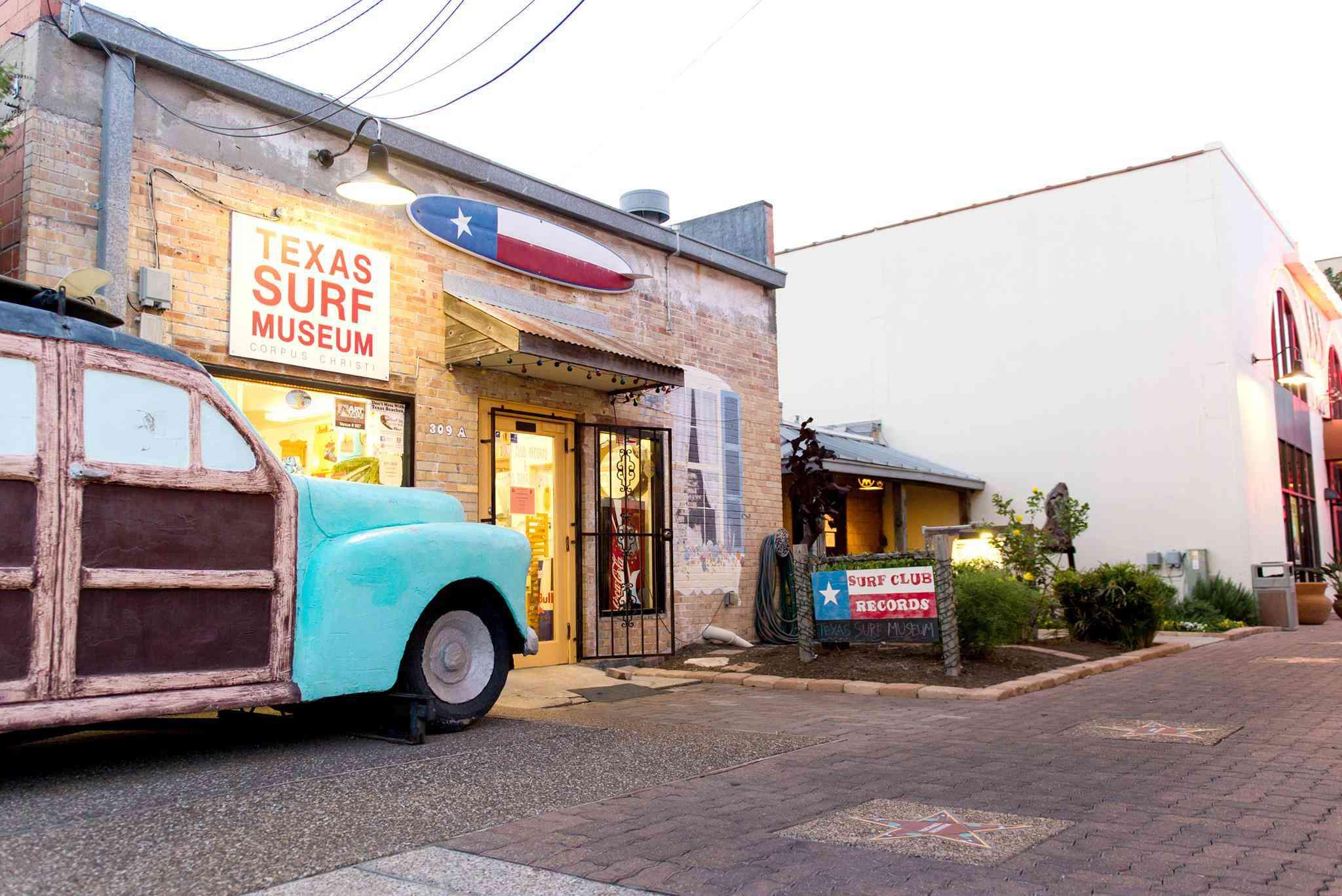 exteriror of Texas Surf Museum