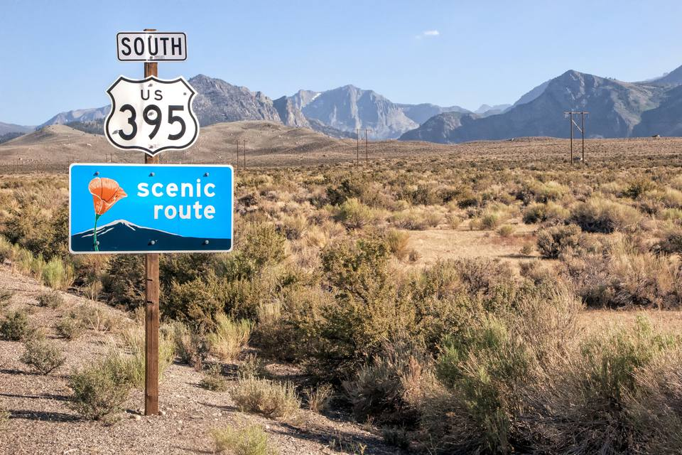 Scenic Highway 395 in Eastern California