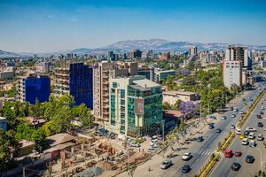 Elevated view of Addis Ababa, Ethiopia