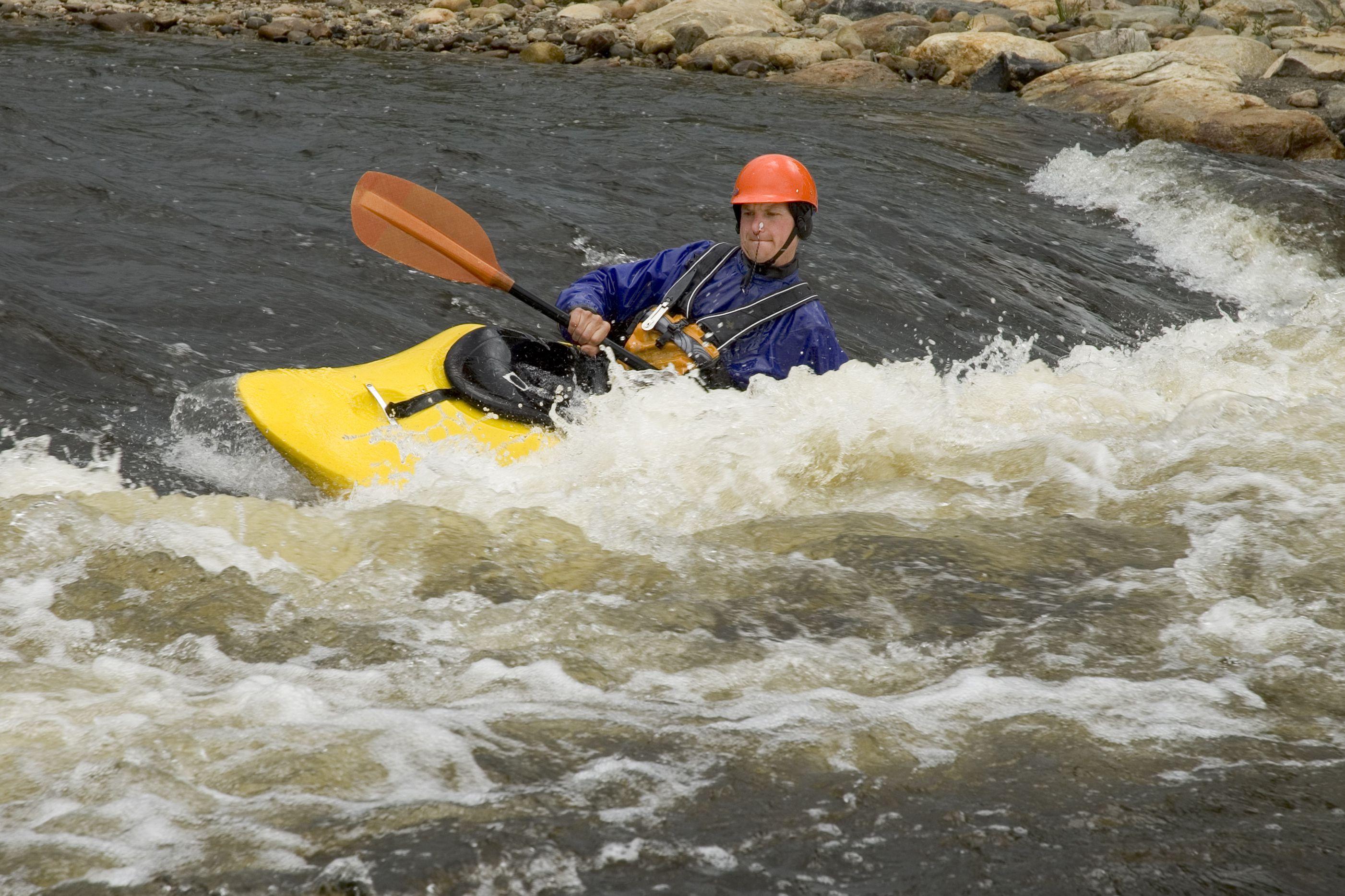 A man kayaking the Yampa River