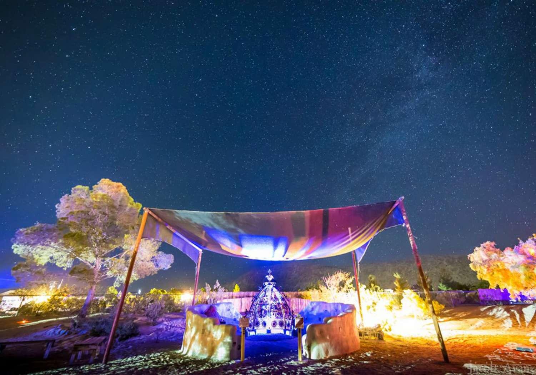 Joshua Tree Music Festival at night
