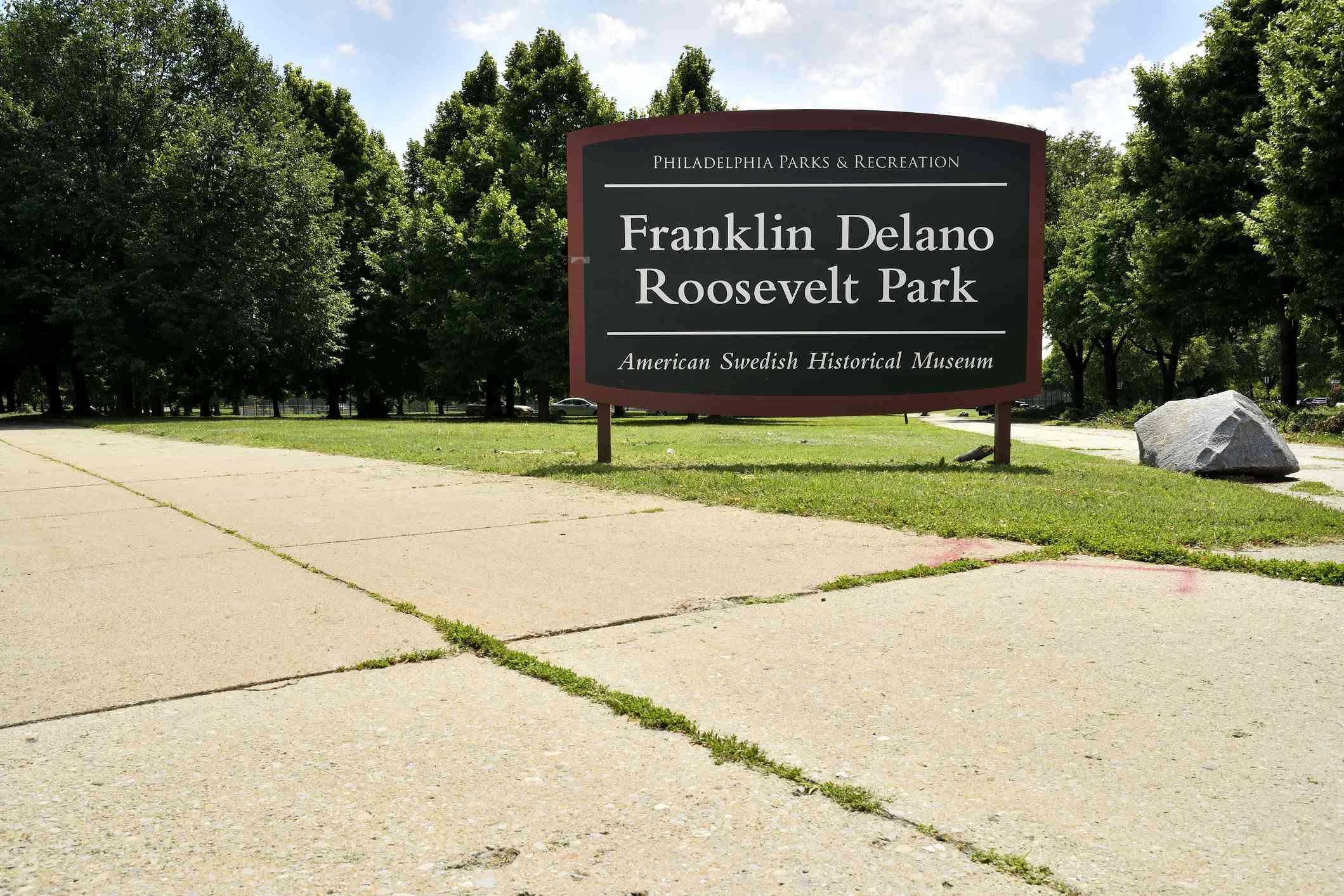 Sign for Philadelphia's FDR Park