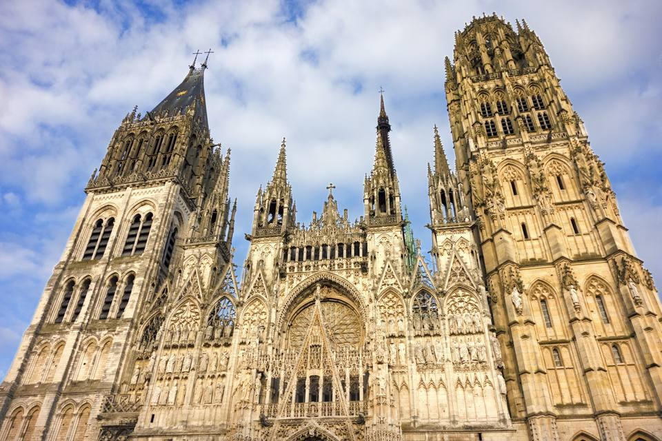 Rouen Cathedral dates back to the 4th century