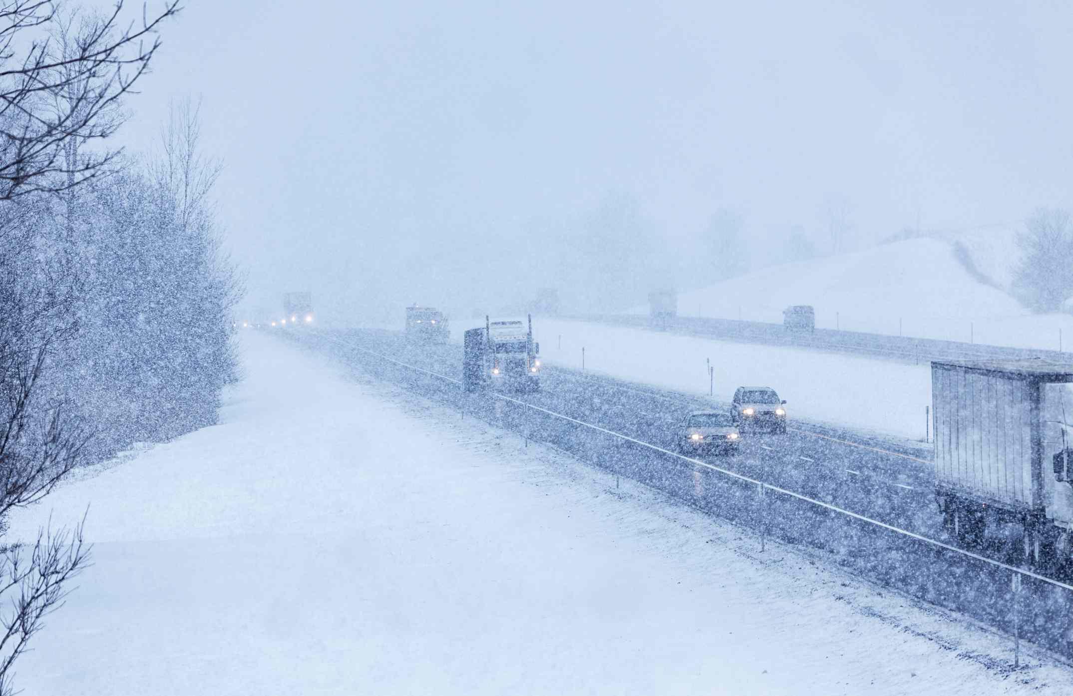New York State Thruway Snow Driving