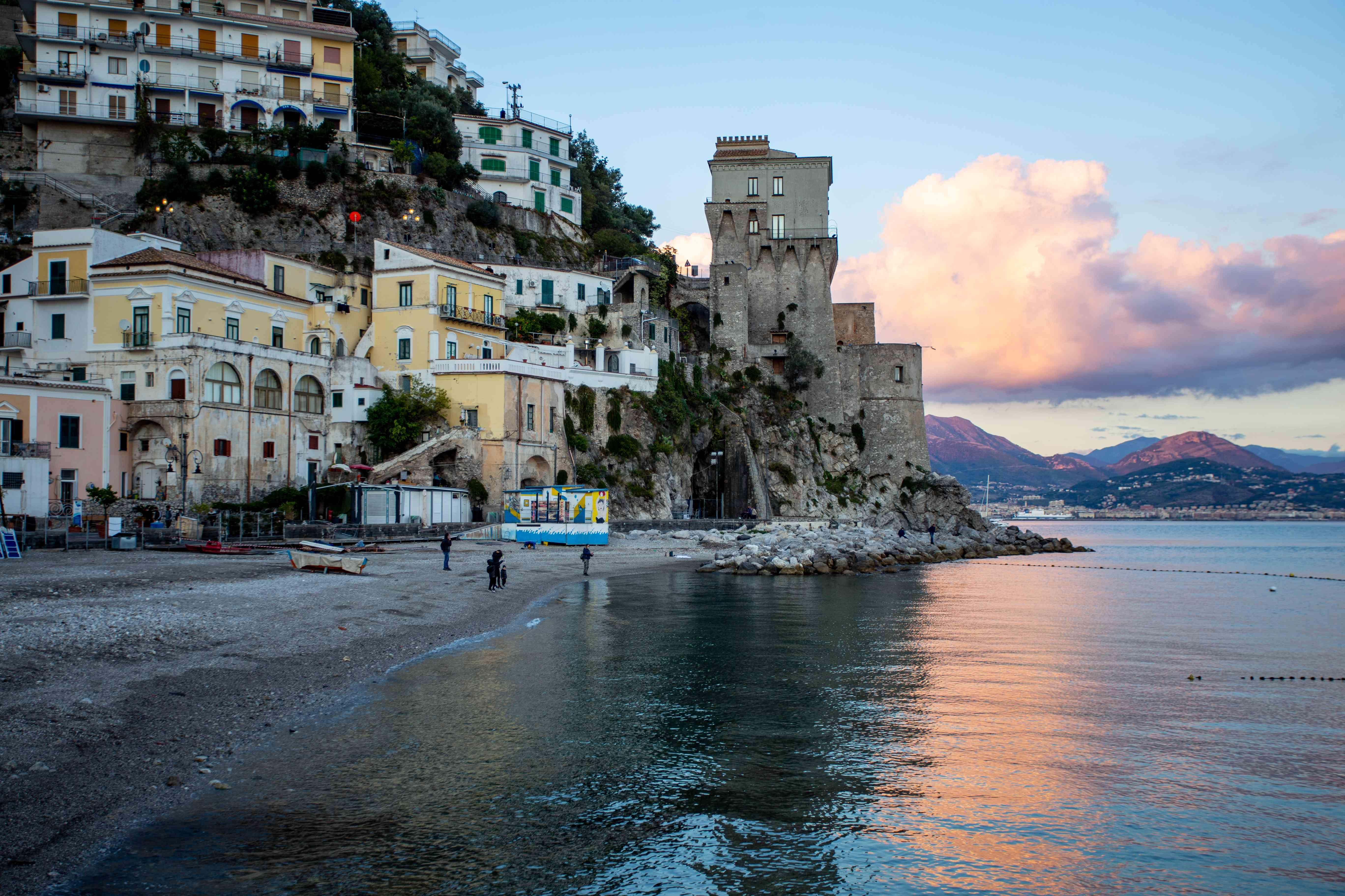 Cetara Beach in Amalfi