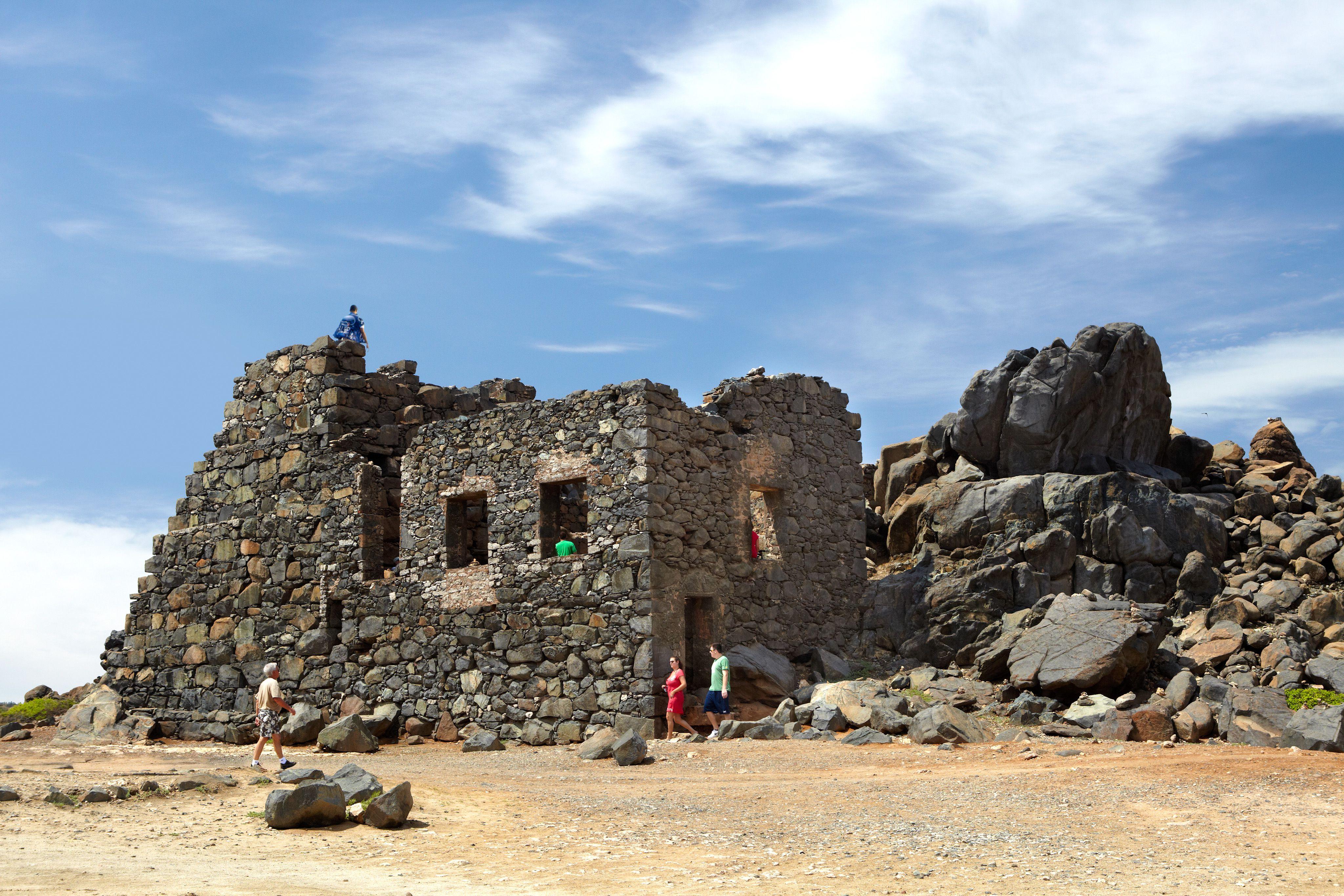 Bushiribana gold mine ruins.