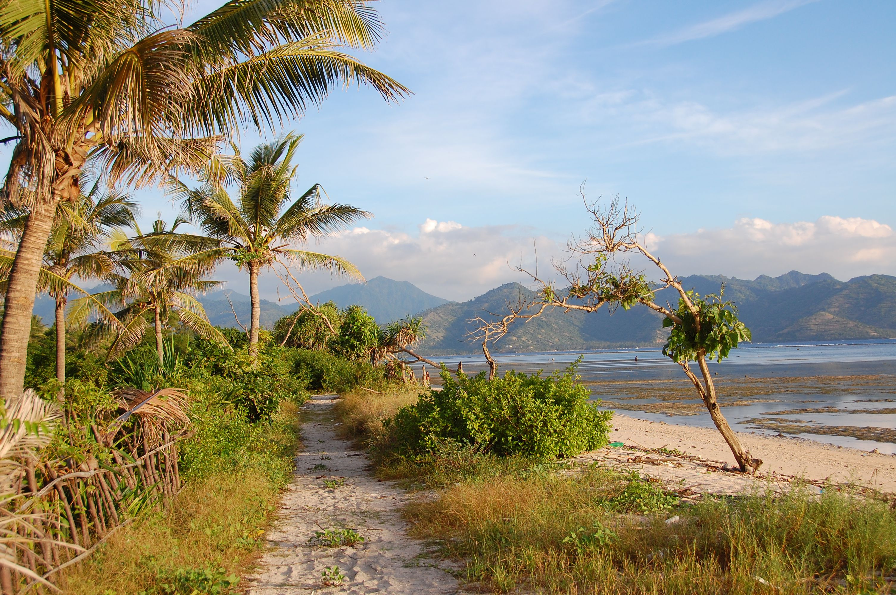 Path around Gili Air, Indonesia