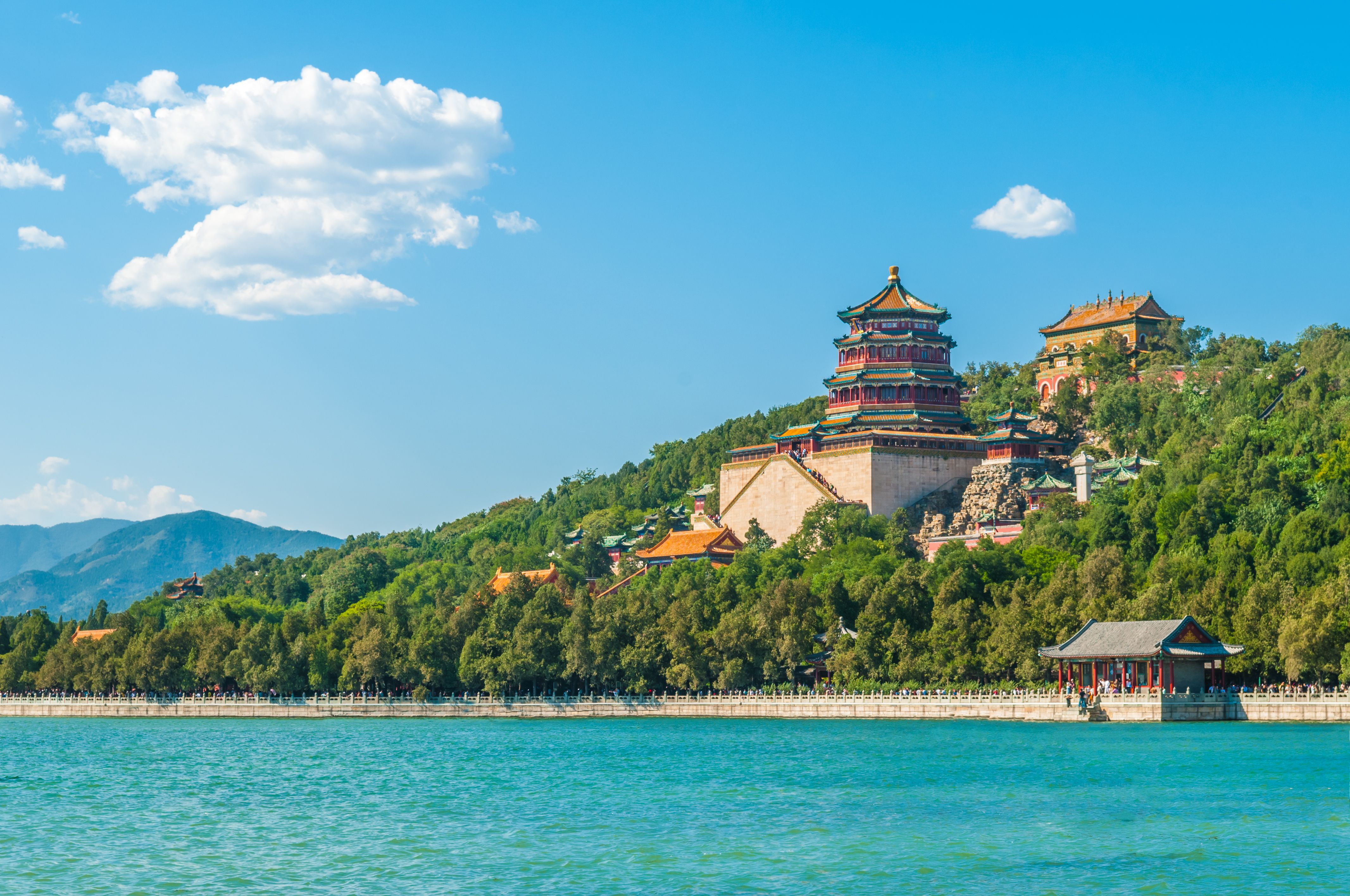 Summer Palace on the lake in Beijing