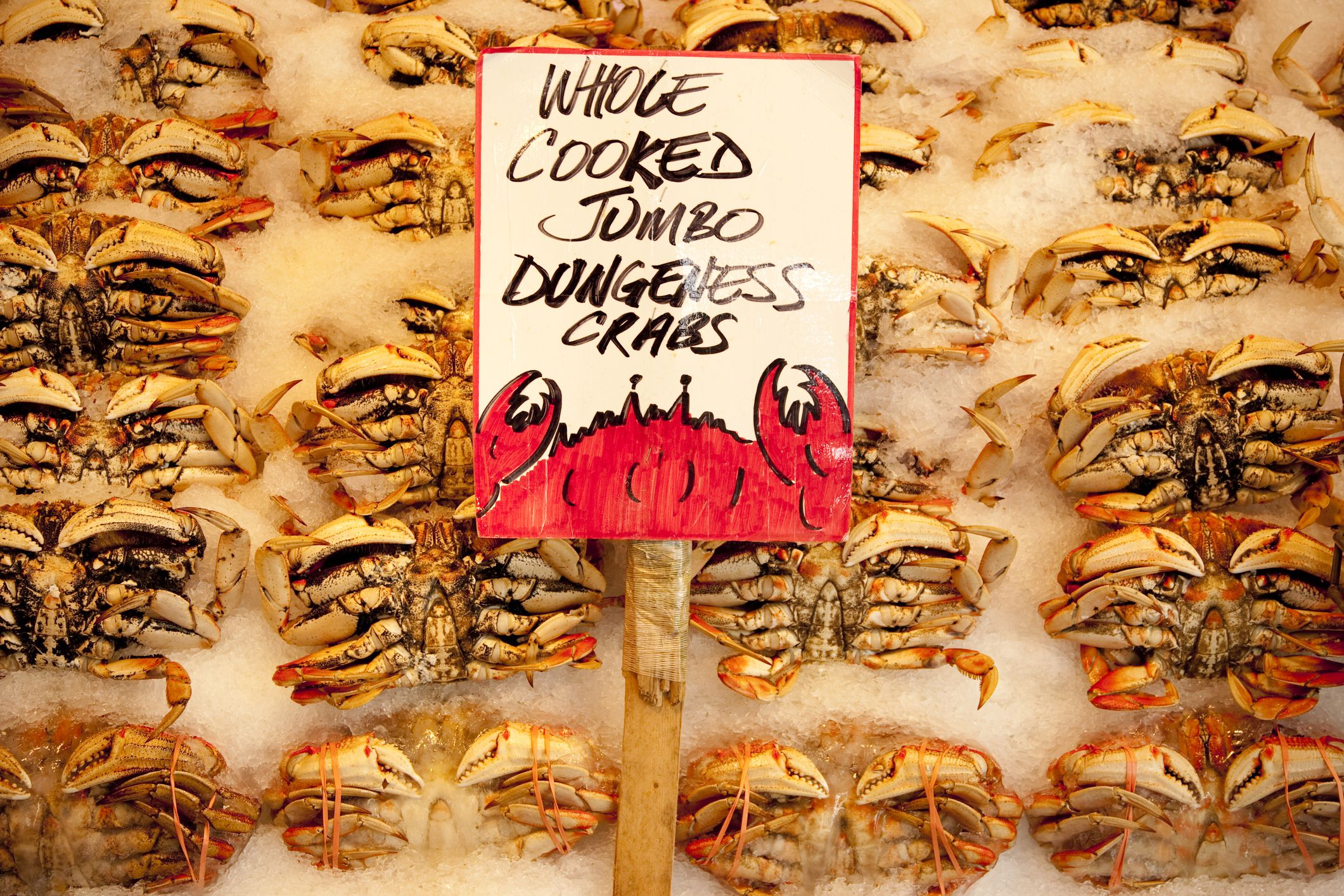 Fresh Crab at Pike Place Market.