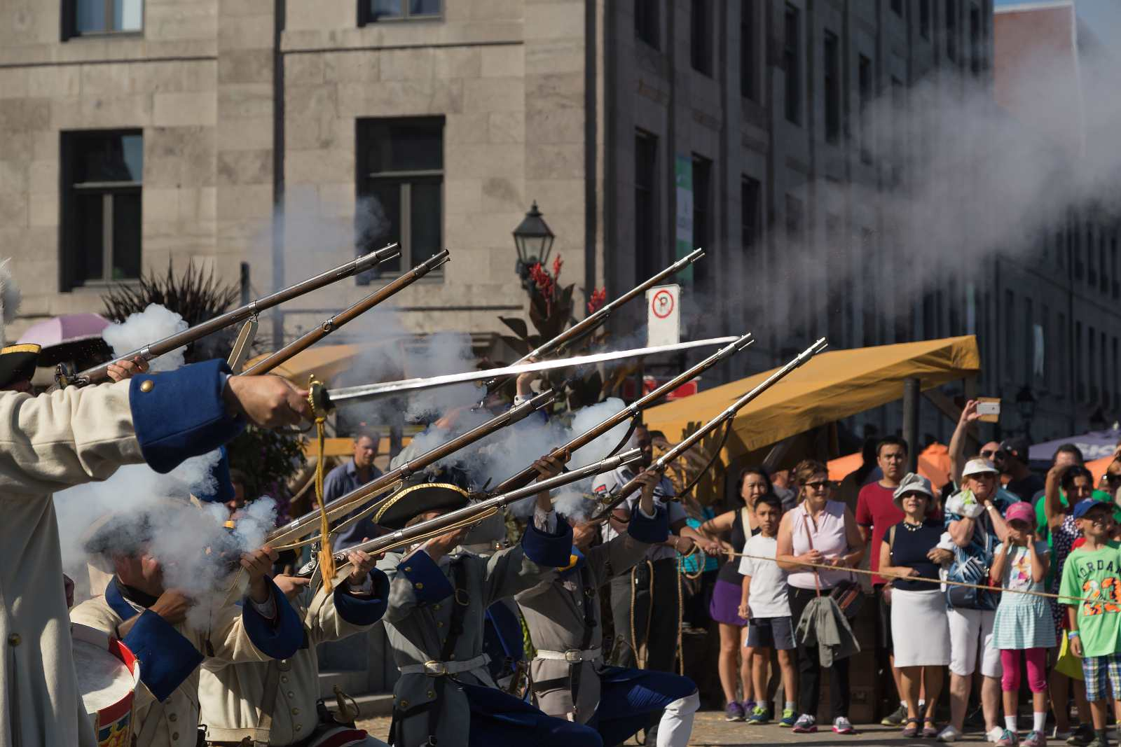 Montreal festivals in August 2016 include the 18th Century Market.