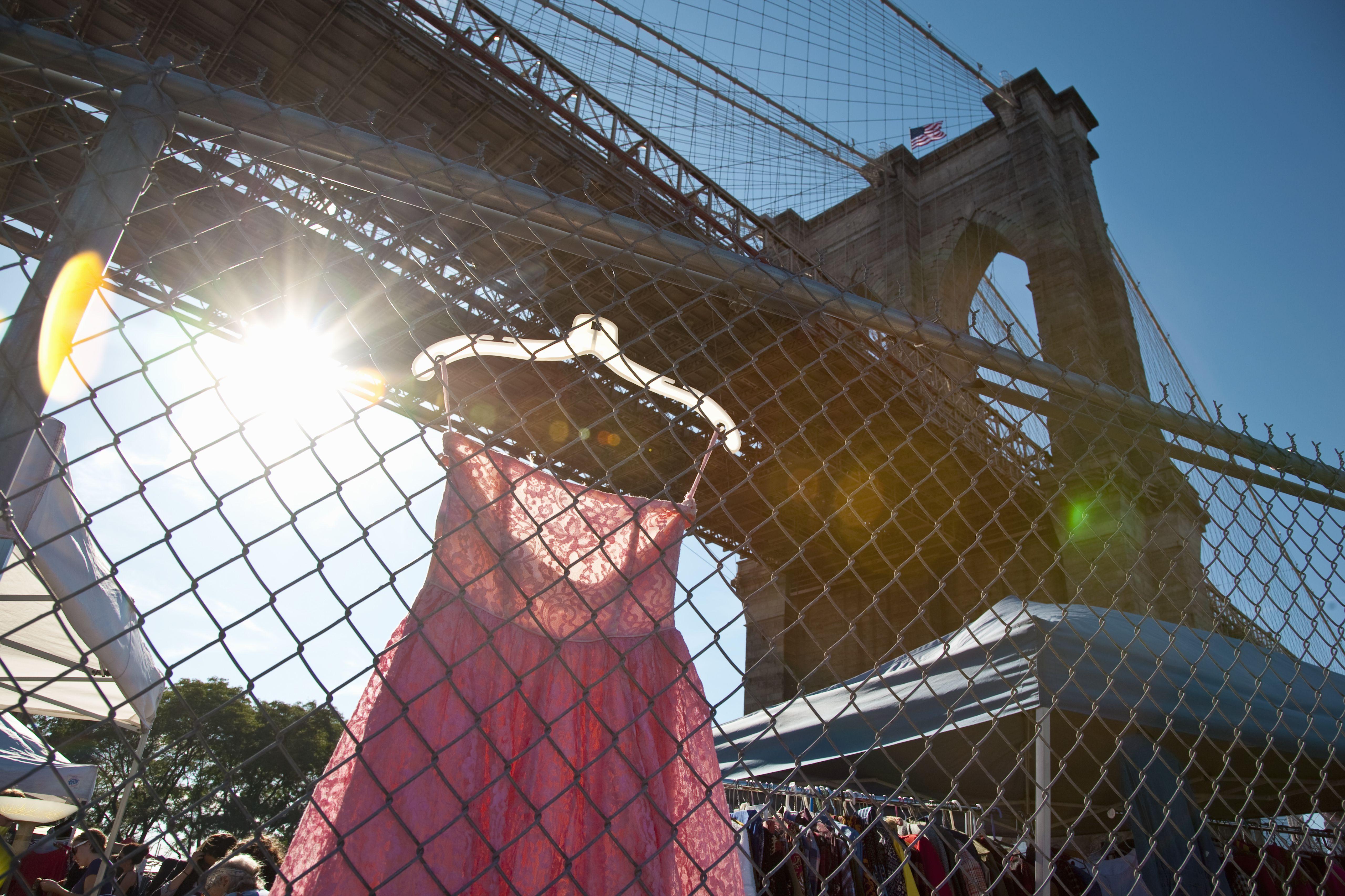Brooklyn bridge flea market