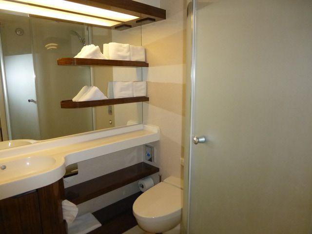 Norwegian Breakaway Balcony Cabin Bath and Shower