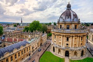 Sunny day at Radcliffe Camera in Oxford City