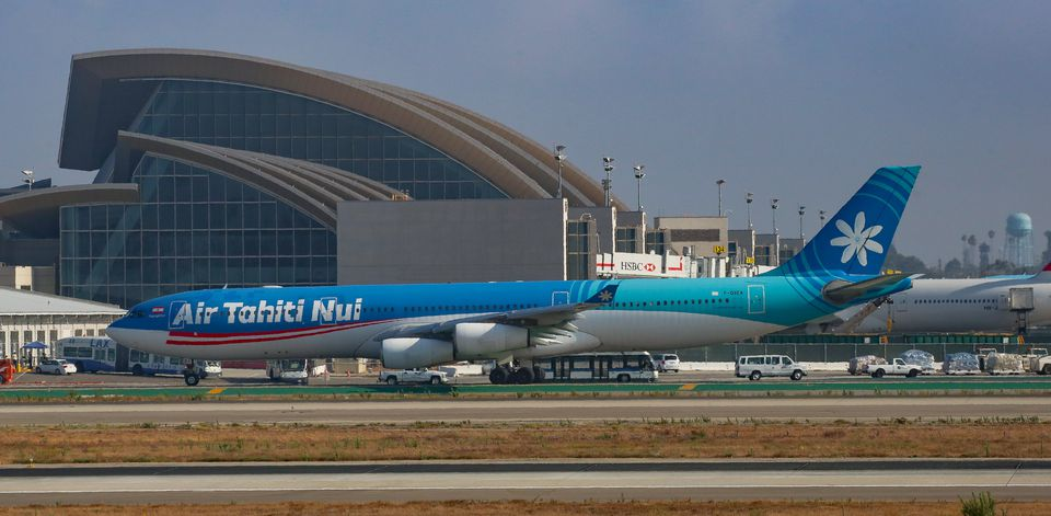 Air Tahiti Airbus A340 at Los Angeles International Airport