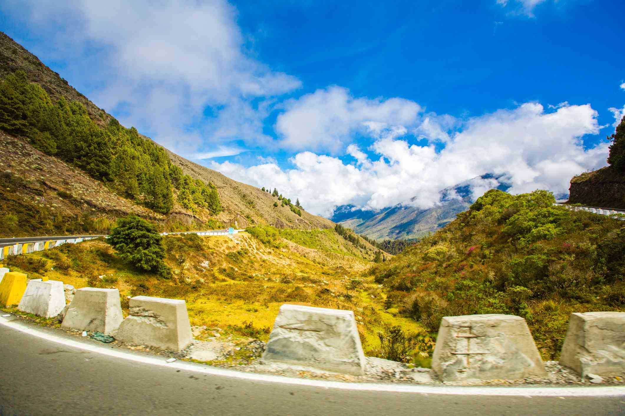 road in the Andes mountains in the state of Merida